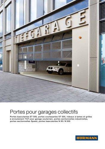Portes de garage collectif ou double