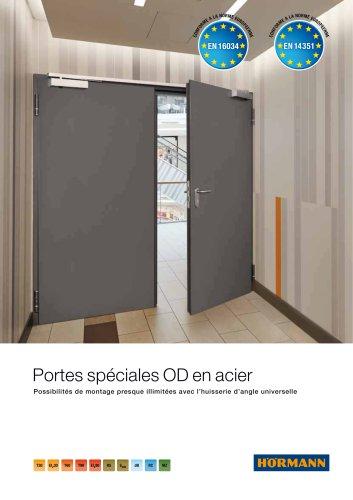 Portes spéciales OD en acier -  Possibilités de montage presque illimitées avec l'huisserie d'angle universelle