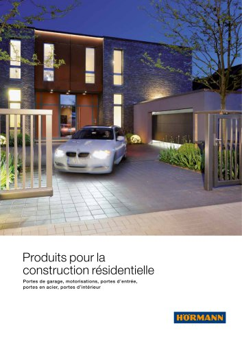 Produits pour la construction résidentielle