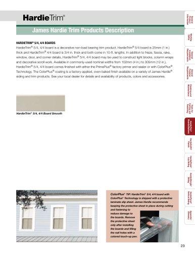HZ5™-HardieTrim pg. 23-38
