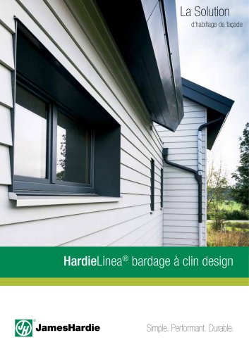 Lame de bardage:Brochure HardieLinea bardage à clin design