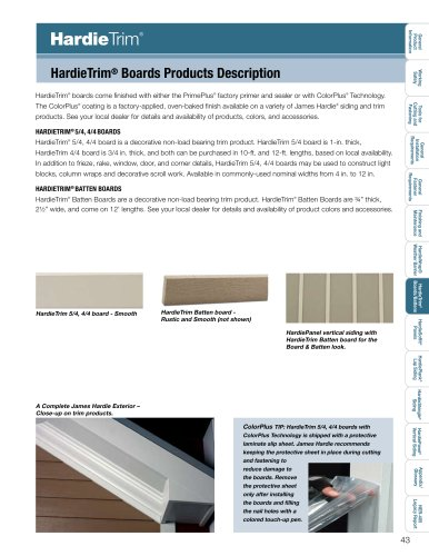 Products Installation Guide_HardieTrim pg. 43-65