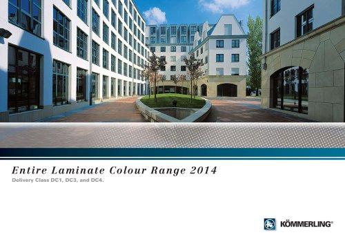 Entire Laminate Colour Range 2014