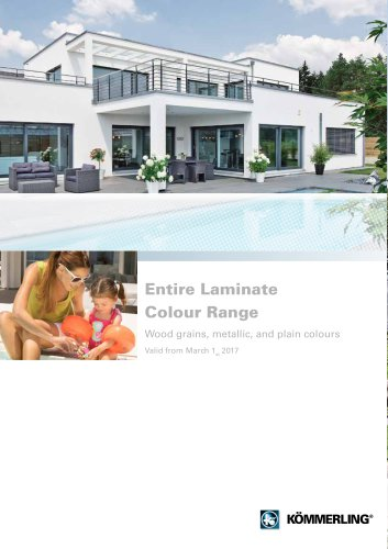 Entire Laminate Colour Range Wood grains, metallic, and plain colours Valid from March 1st 2017