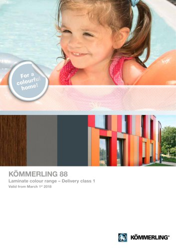 KÖMMERLING 88 Laminate colour range – Delivery class 1 Valid from March 1st 2018