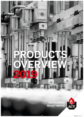 PRODUCTS OVERVIEW 2019