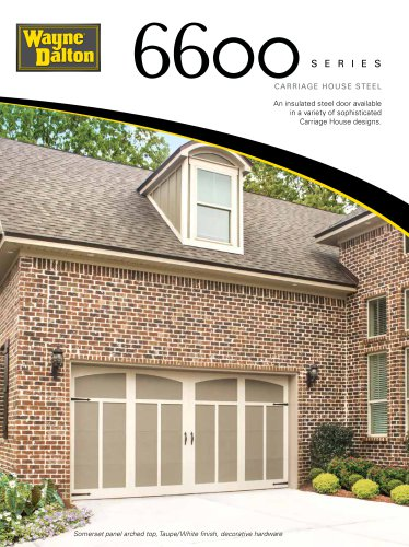 Model 6600 | Carriage House Steel Garage Door