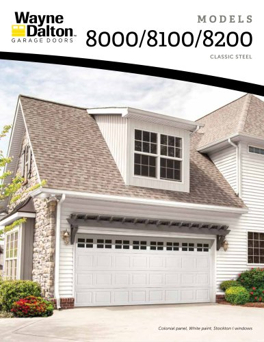 Model 8000-8200 | Classic Steel Garage Doors