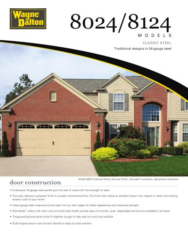 Model 8024/8124 | Classic Steel Garage Door