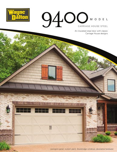 Model 9400 | Carriage House Steel Garage Door