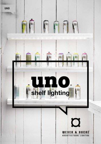 Uno shelf lighting