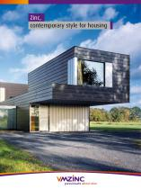 Zinc, contemporary style for housing