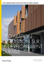 Déclaration de position sur le développement durable