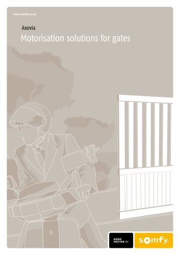AXOVIA - Motorisation solutions for gates