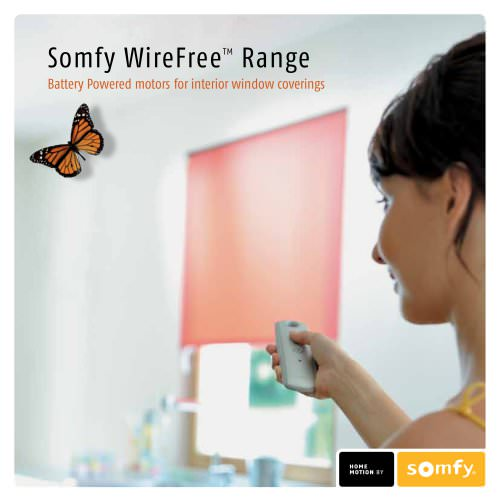 Wirefree motorised blinds solutions