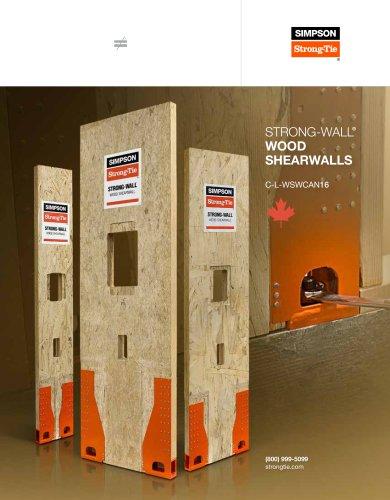 Strong-wall Wood Shearwall Catalog