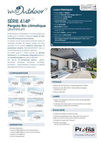 Toiture BSO & Pergola alu Wallis&Outdoor®