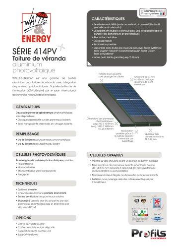 Toiture de véranda photovoltaïque Wallis&® Energy