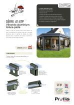 Véranda aluminium Wallis® à toiture plate - 1