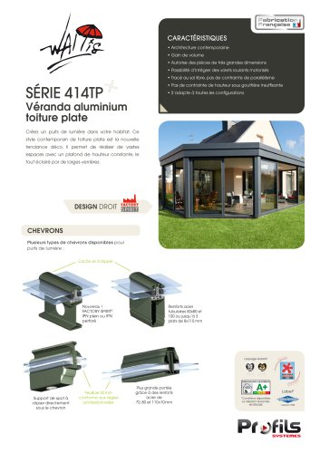 Véranda aluminium Wallis® à toiture plate