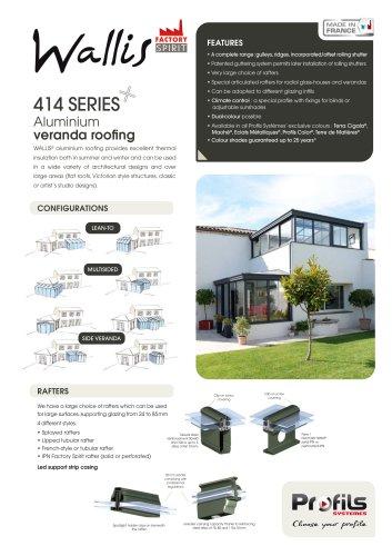 WALLIS® Aluminium veranda roofing
