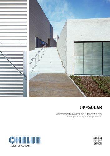 OKASOLAR Glazing with Integral Daylight Control