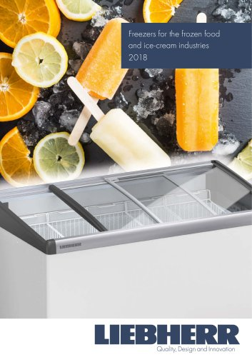 Freezers for the frozen food and ice-cream industries 2018