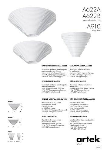 CEILING LAMP A622A/A622B/910