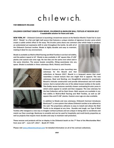Chilewich Contract Press Release 2017-2018