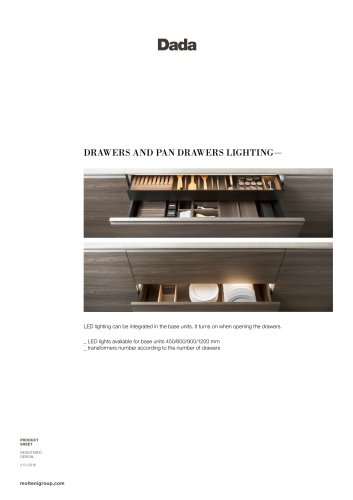 DRAWERS AND PAN DRAWERS LIGHTING—