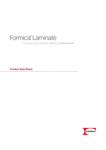 Formica® Laminate Product Data sheet