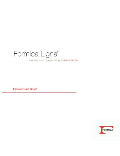 Formica Ligna Product Data Sheet