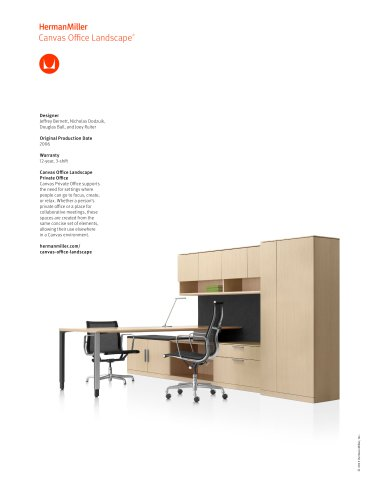 Canvas Office Landscape private office product sheet