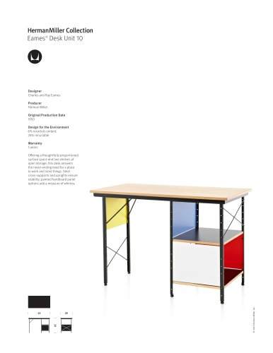 Eames Desk Unit 10 product sheet