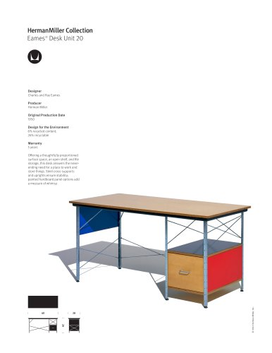 Eames Desk Unit 20 product sheet