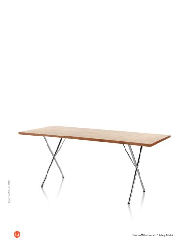 Nelson X-Leg Table product sheet