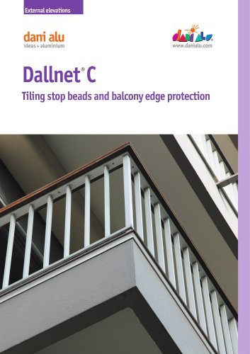 Dallnet C : Tiling stop beads and balcony edge protection