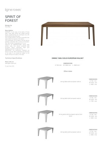 DINING TABLE SOLID