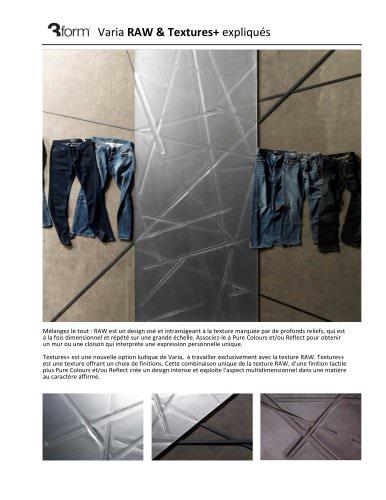 Varia RAW& Textures+ expliqués