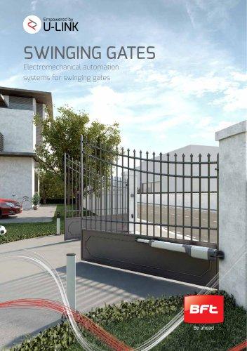 SWINGING GATES - Electromechanical automation systems for swinging gates