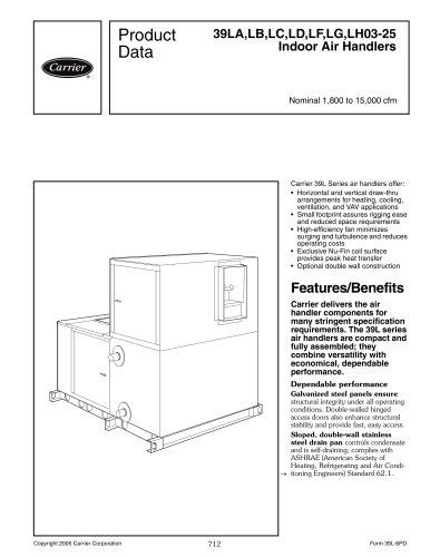 39LA,LB,LC,LD,LF,LG,LH03-25 Indoor Air Handlers