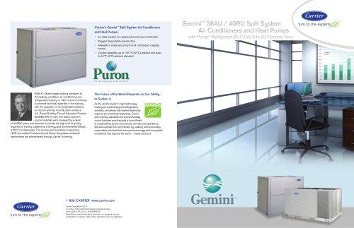 Gemini? 38AU / 40RU Split System Air Conditioners and Heat Pumps