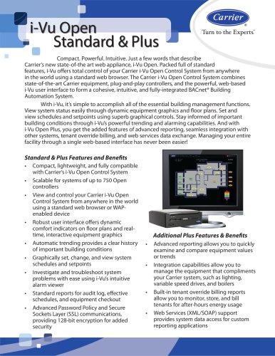 i-Vu Open Standard & Plus