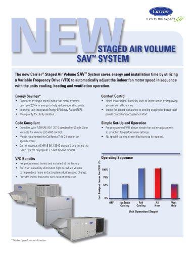 New Carrier® Staged Air Volume SAV? System Brochure 18-811-053
