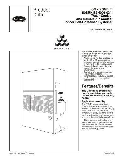 OMNIZONE? 50BRN,BZN006-024 Water-Cooled