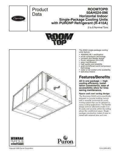 ROOMTOP® 50AH024-096 Horizontal Indoor