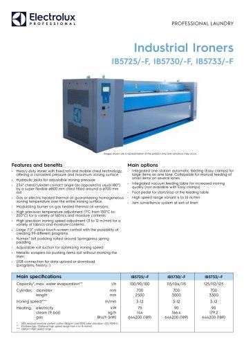 Industrial Ironers IB5725/-F, IB5730/-F, IB5733/-F