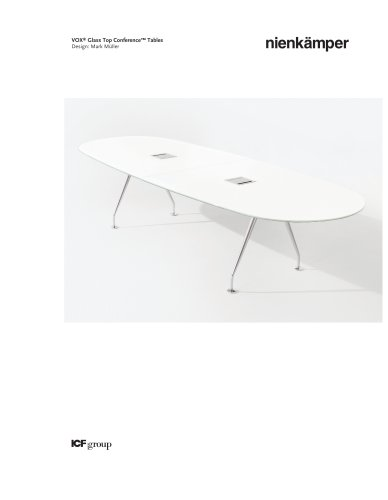 Vox® Glass Top Conference Tables