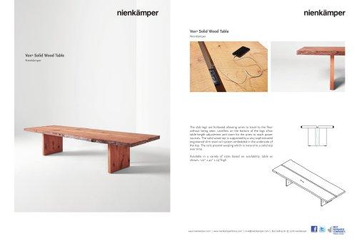 Vox Solid Wood Top