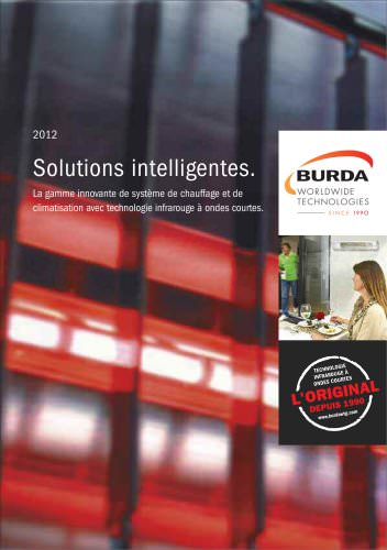 Solutions intelligentes. La gamme innovante de système de chauffage et de climatisation avec technologie infrarouge